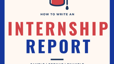 Internship Report - Internship Report sample - internship report template - How To write an internship report