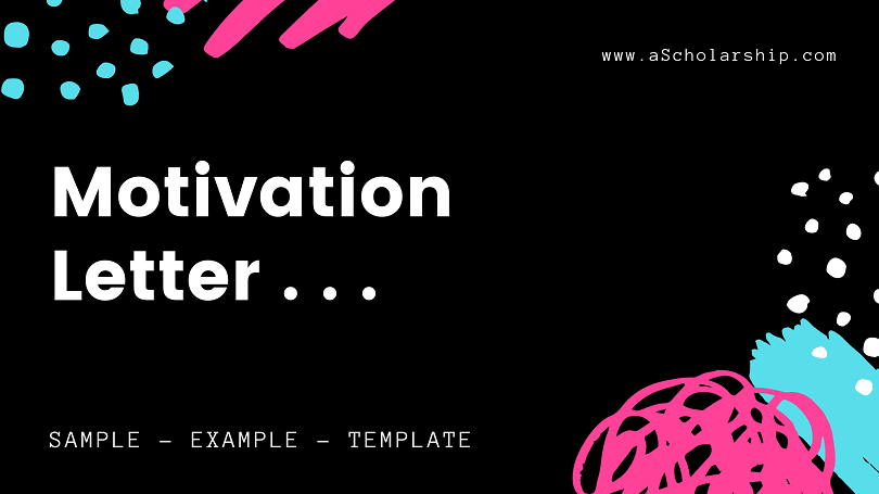 Motivation Letter Template, example, sample