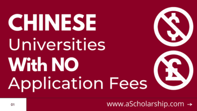 Chinese Universities with NO APPLICATION FEES for CSC Scholarship