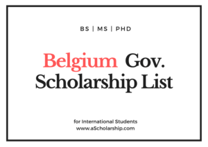 Scholarships in Belgium - Belgium Scholarships for international Students