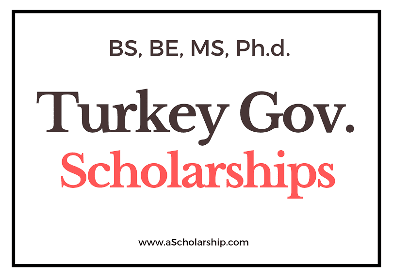 Turkey Government Scholarship Online Application