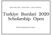 Turkiye Burslari Scholarship 2020-2021 - Turkey Government Scholarship Application Deadline February 20, 2020
