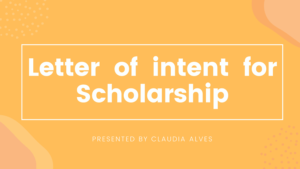 Letter of Intent (LOI) for Scholarships Template, Example and Sample
