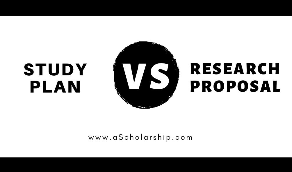 Study Plan VS Research Proposal - A brief Comparison
