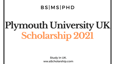 University of Plymouth UK Scholarship 2021 for international Students
