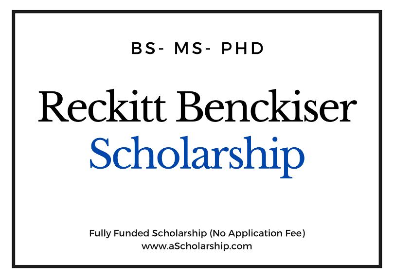 Reckitt Benckiser Scholarship (RB Scholarship) 2021
