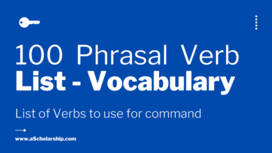 100 Most Common Phrasal Verbs used for Commands