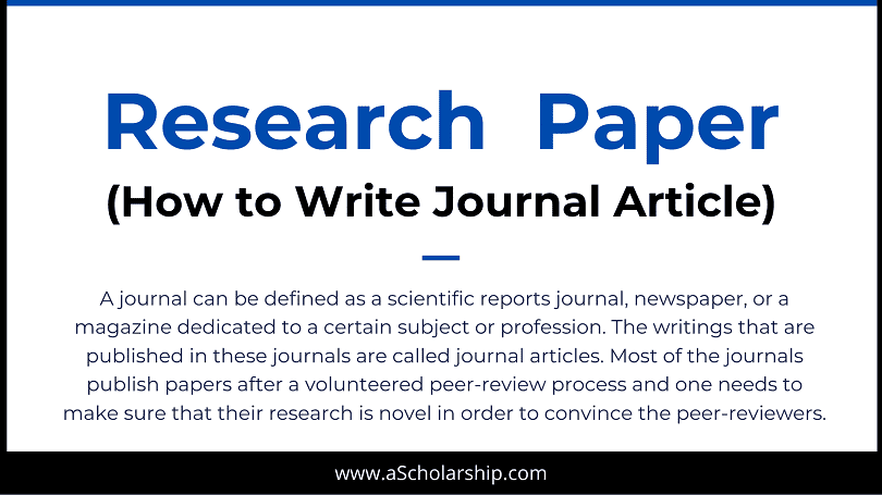 6 Tips in Writing a Scientific Research Paper Journal Paper Writing, Research Article Writing Ethics and Format