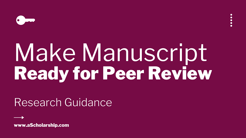 How to Make Manuscript for Blind Peer Review