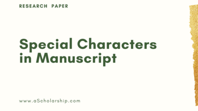 Special Characters in Research Papers How to Use Special Characters in Manuscript for Journal Submission