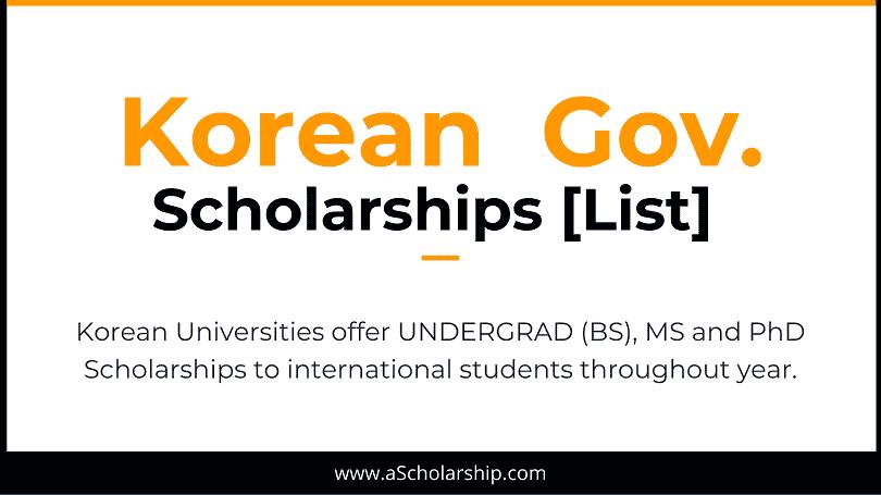 Korean Scholarships 10 Scholarships in Korea for International Students - Study in Korea for Free