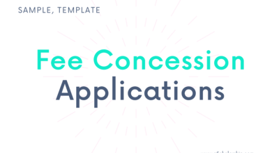 Application for Fee Concession to the Principal in English - Format, Samples, Templates, Examples of Fee Concession Application Letter written to the Principal