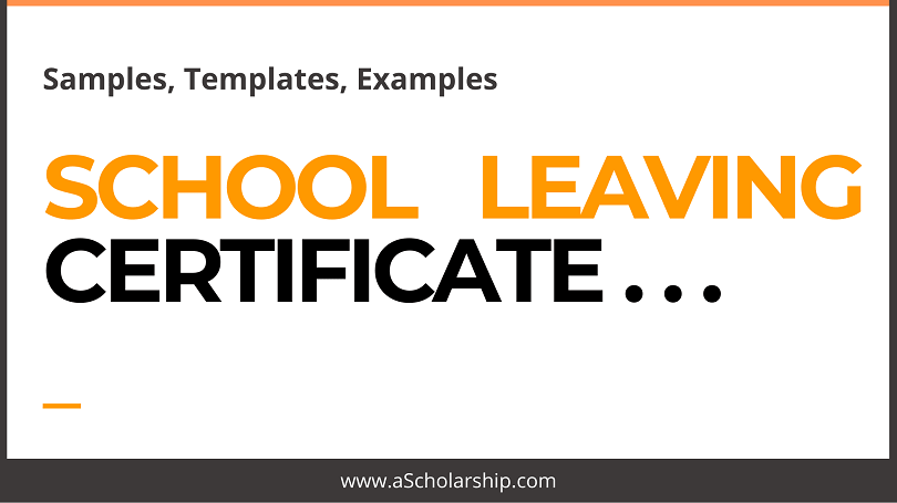 Application for School Leaving Certificate [With Samples, Templates and Examples]