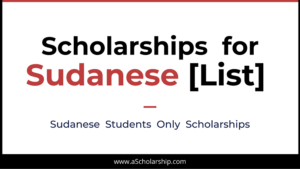 Scholarships for Sudanese Students List of Scholarships for Students from Sudan