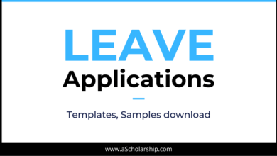 Universal Leave Application Templates, Samples, Formats Download - Email Leave Application Samples