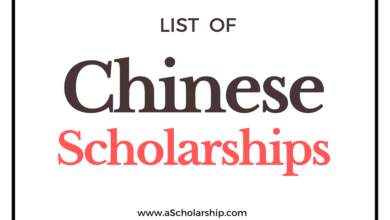 Chinese Scholarships List CSC Scholarship, CAS-TWAS Scholarship, Provincial Government Scholarships, University Sponsored Scholarships