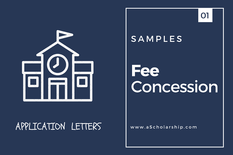 Fee Concession Application Letter with Samples