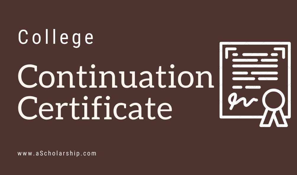 College Continuation Certificate Format, Sample, Example, Template Download