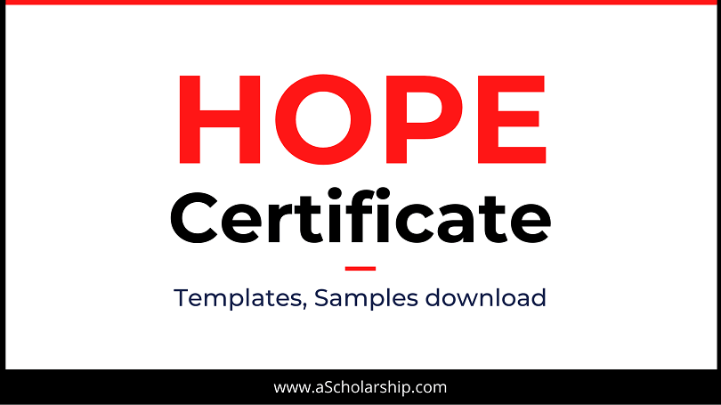 Hope Certificate Hope Certificate Format, Sample, Example, Template Download