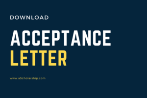 Acceptance Letter Template for CSC Scholarship Application Download (Editable Format File of Acceptance Letter for Scholarship)
