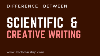 Difference between Scientific and Creative Writing Styles