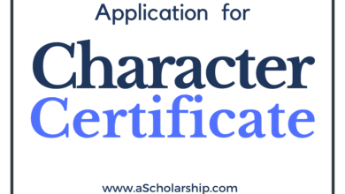 Application for Character Certificate & Police Character Certificate [Samples] for Students, and VISA Applicants