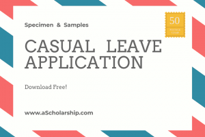 Application for Casual Leave Samples, Format, Template Download