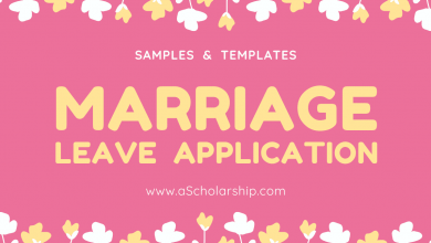 Application for Marriage Leave Format and Sample of Marriage Leave Application