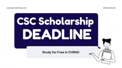 CSC Scholarship 2021 Deadline