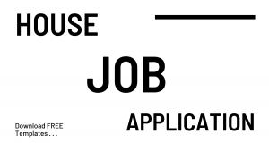 House Job Application in Hospital [DOC] Template, Form, Format and Sample