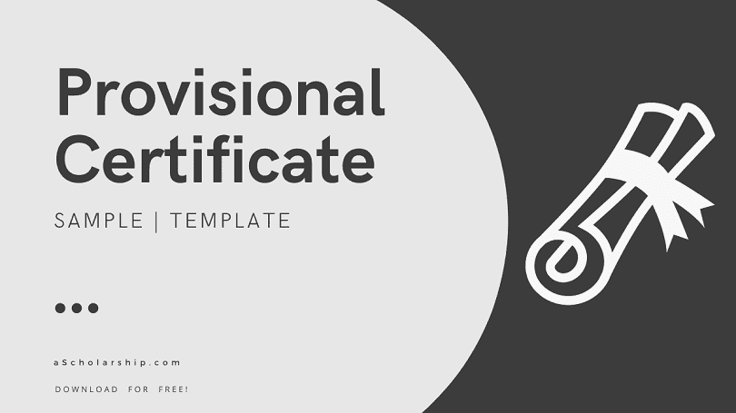 Provisional Certificate Application Samples, Templates, and Ultimate Writing Guide