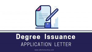 Application for Degree Issuance, Sample, Format and Free Online Template