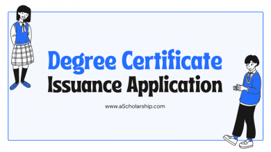 Degree Certificate Issuance Application Samples, Templates and Format
