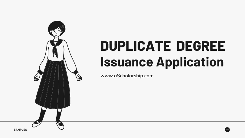 Duplicate Degree Certificate Application Sample, Template and Format